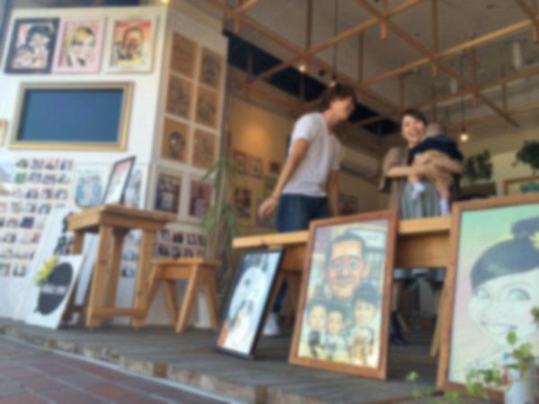 福岡太宰府の似顔絵ショップで世界に一つだけのウェルカムボードが作れるので行ってきた