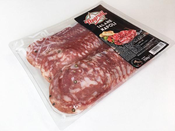 コストコのNegroniサラミナポリのクセが強い。けどクセになる美味しさ
