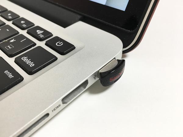 MacBookの慢性的なストレージ不足を解決した64GBの超小型USBメモリー