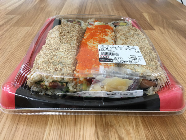 """ヘルシーそうなコストコ寿司""""玄米キヌア巻き""""を食べてみた#新商品"""