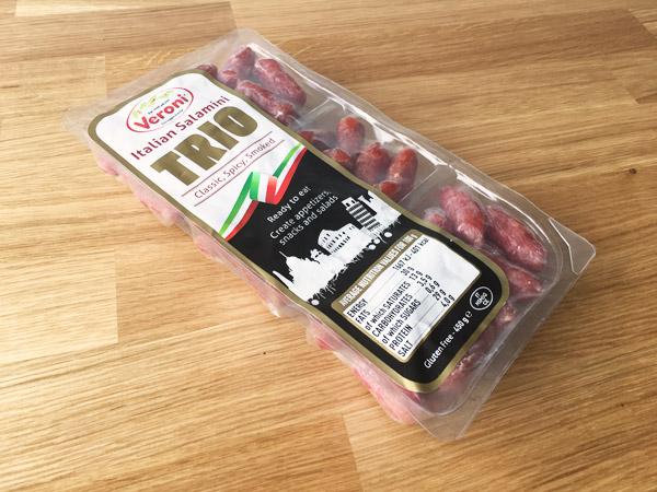 コストコのミニサラミトリオパック[VERONI]が美味!本格的なイタリアンテイスト