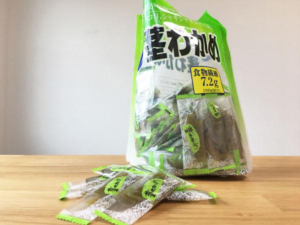コストコの大容量茎わかめ(500g)は減量中おやつとしてオススメぞ
