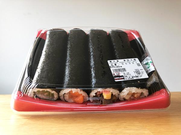 【コストコ】期間限定の恵方巻2018[巻物4種]を食べてみた