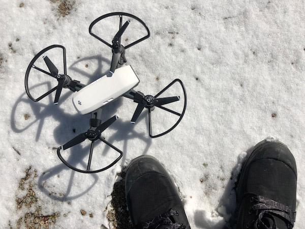 【ドローン】DJI Sparkで雪上空撮するときに必須の着陸ガードまとめ