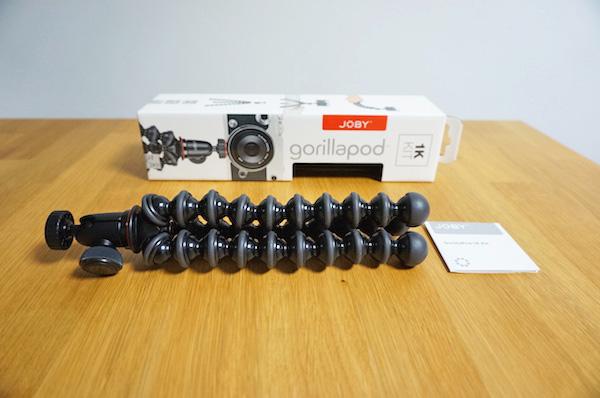 VLOGの自撮り用にJOBYゴリラポッド1K購入。GoPro&スマホの撮影にベストな大きさ